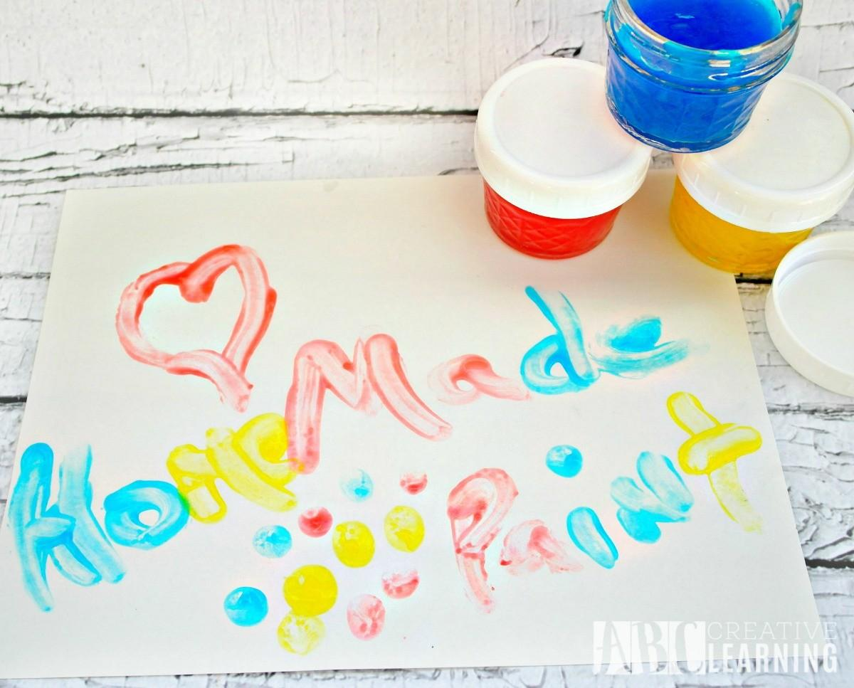 Homemade Finger Paint Simply Today Life