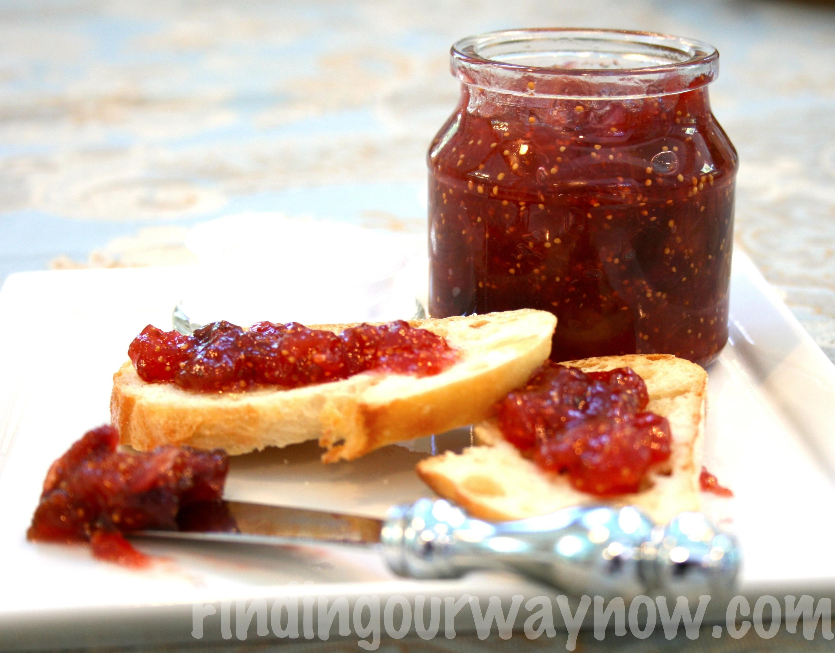 Homemade Fresh Fig Jam Recipe Finding Our Way Now