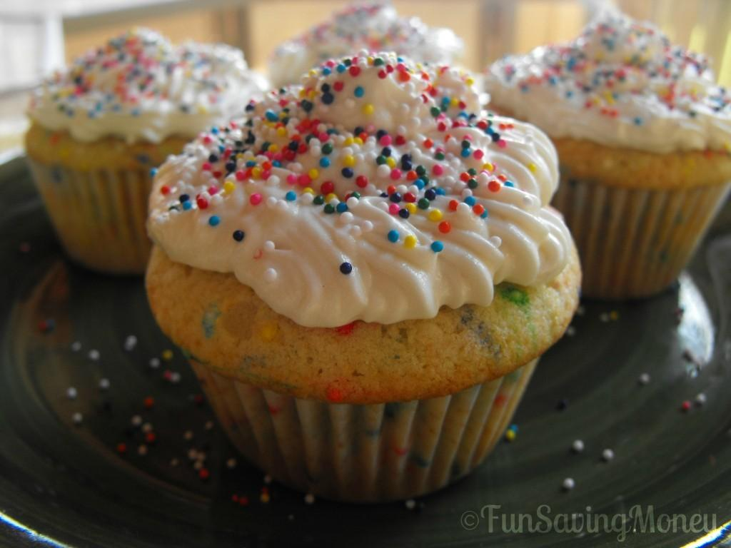 Homemade Funfetti Cupcakes Buttercream Frosting