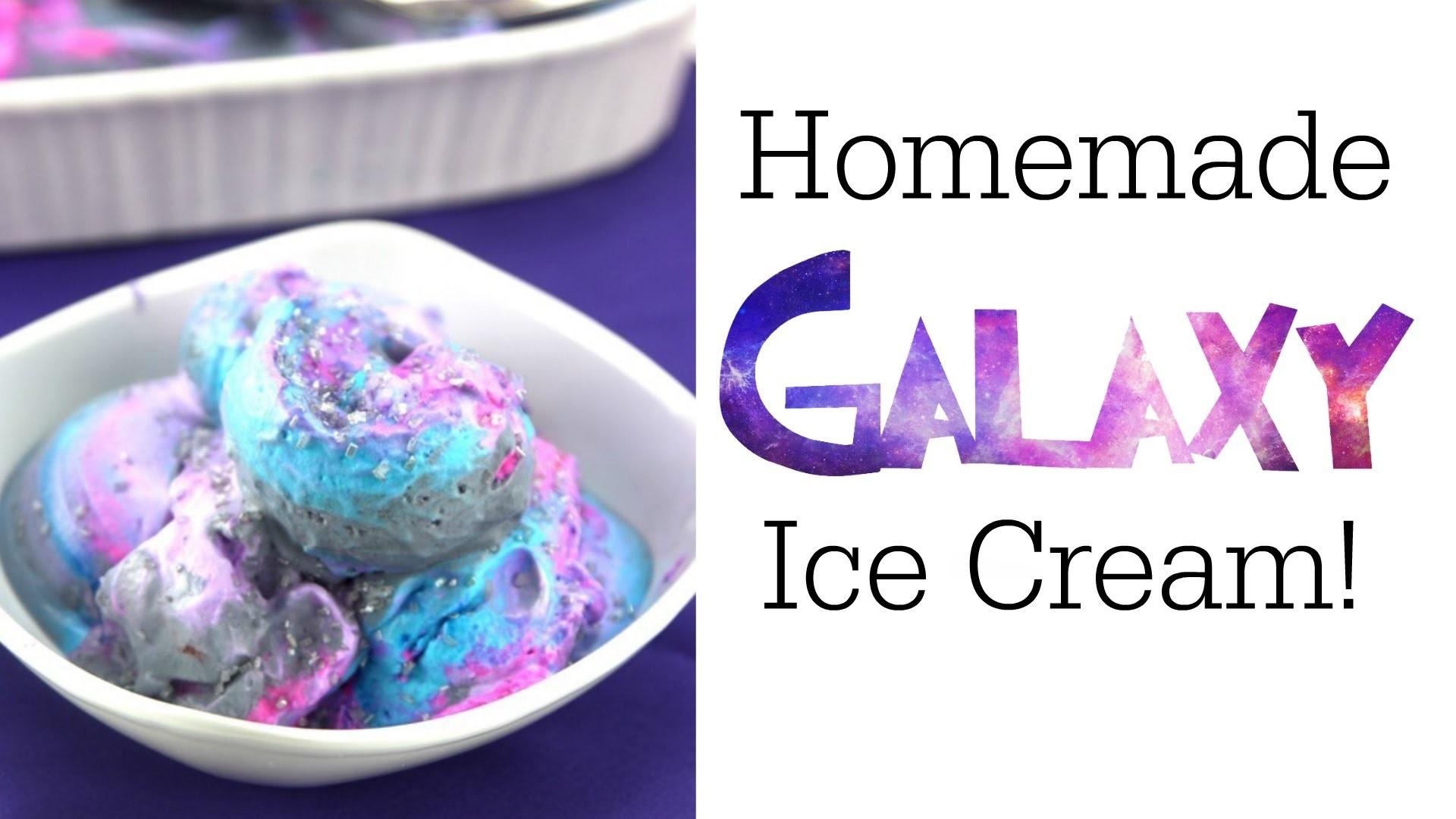 Homemade Galaxy Ice Cream Nerdy Treats