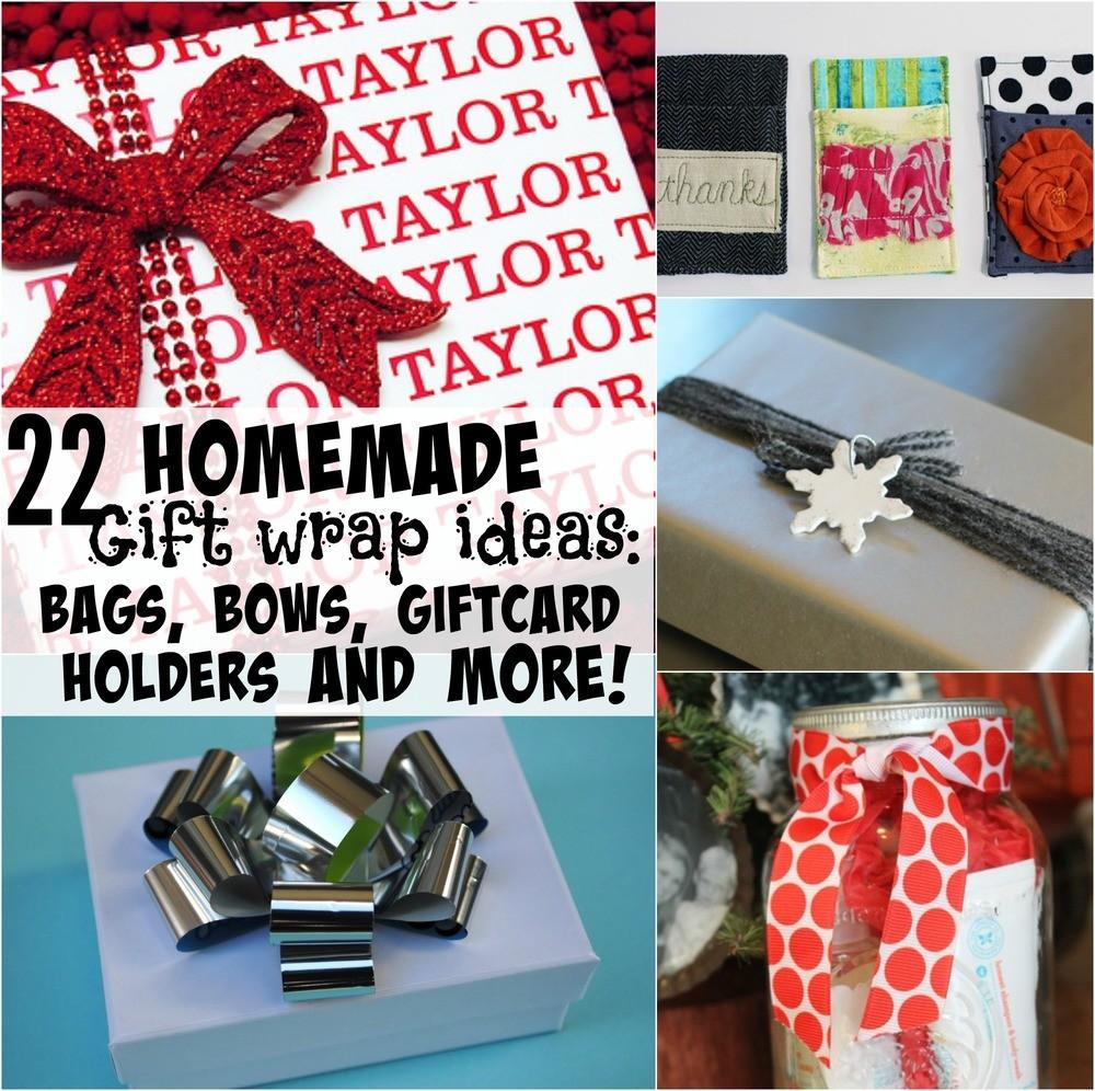 Homemade Gift Wrap Ideas Bags Bows Card Holders