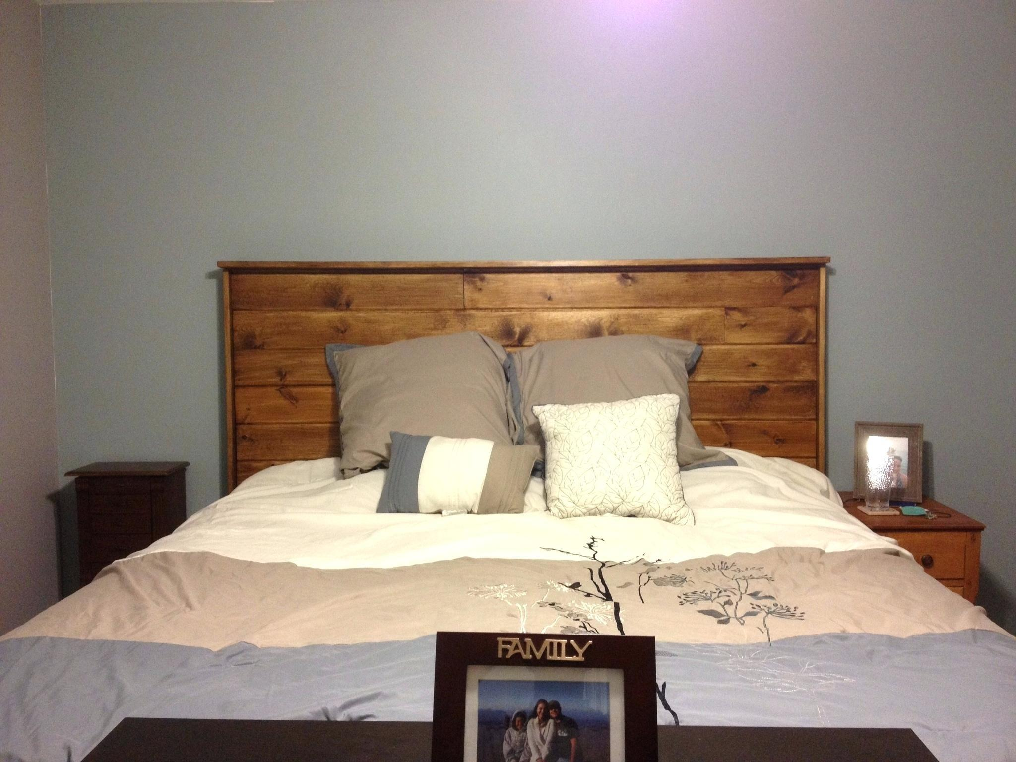 Homemade Headboard Wishes His Bed