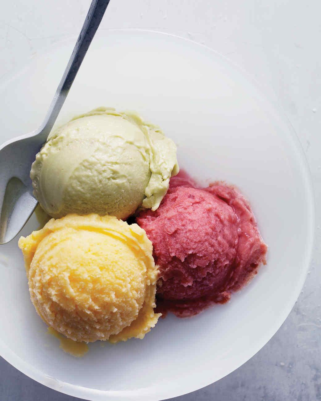 Homemade Ice Cream Sorbet Gelato Recipes Martha