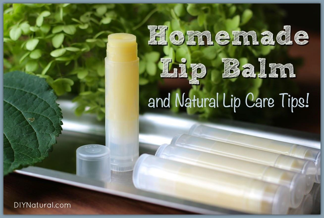 Homemade Lip Balm Recipe All Natural Care