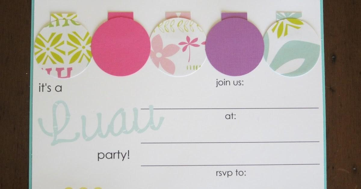 Homemade Luau Party Collection Design Sprinkle