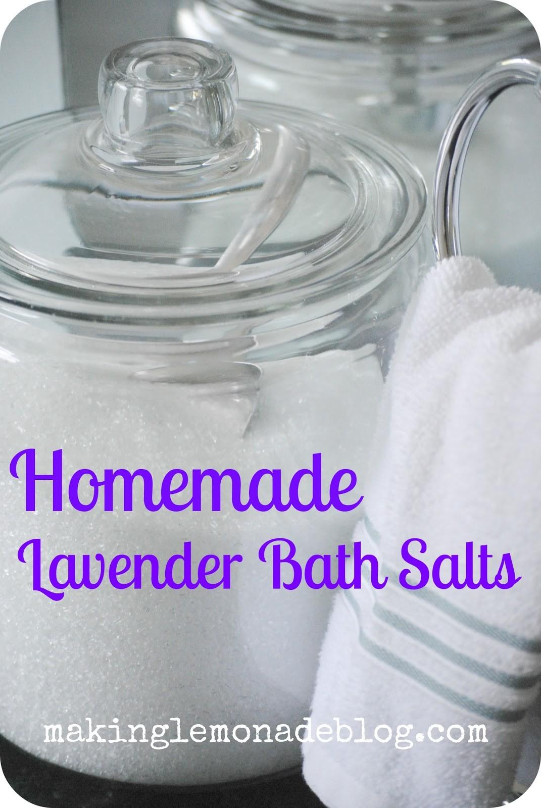 Homemade Mother Day Gift Lavender Bath Salts Making