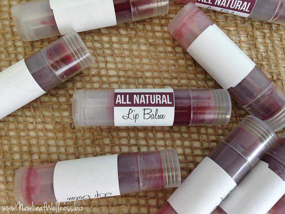 Homemade Naturally Tinted Lip Balm New Leaf Wellness