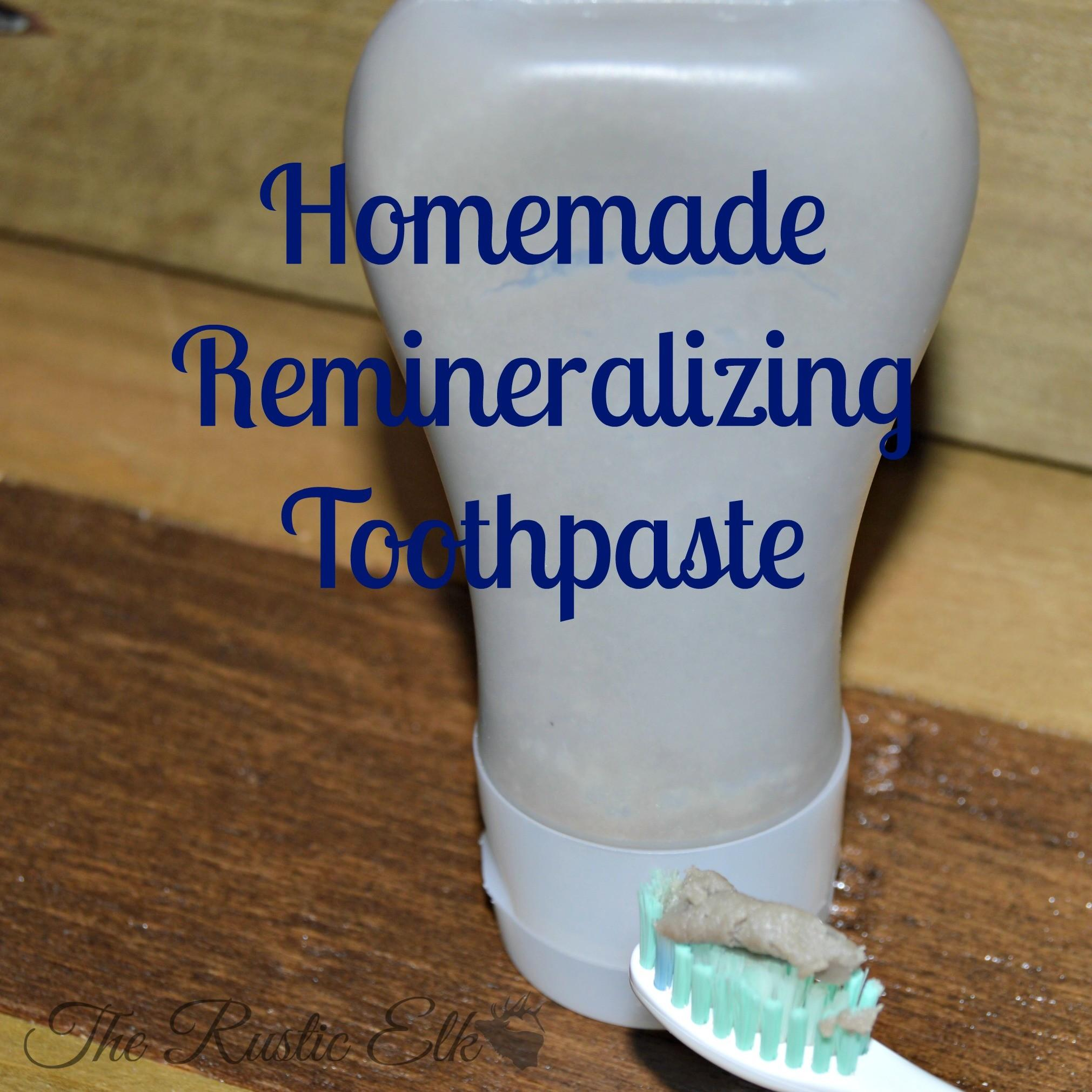 Homemade Remineralizing Toothpaste Rustic Elk