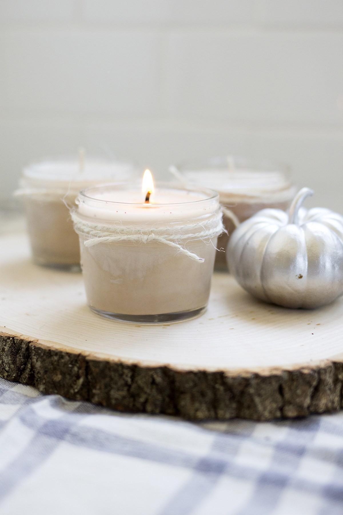 Homemade Soy Pumpkin Spice Candles Freutcake