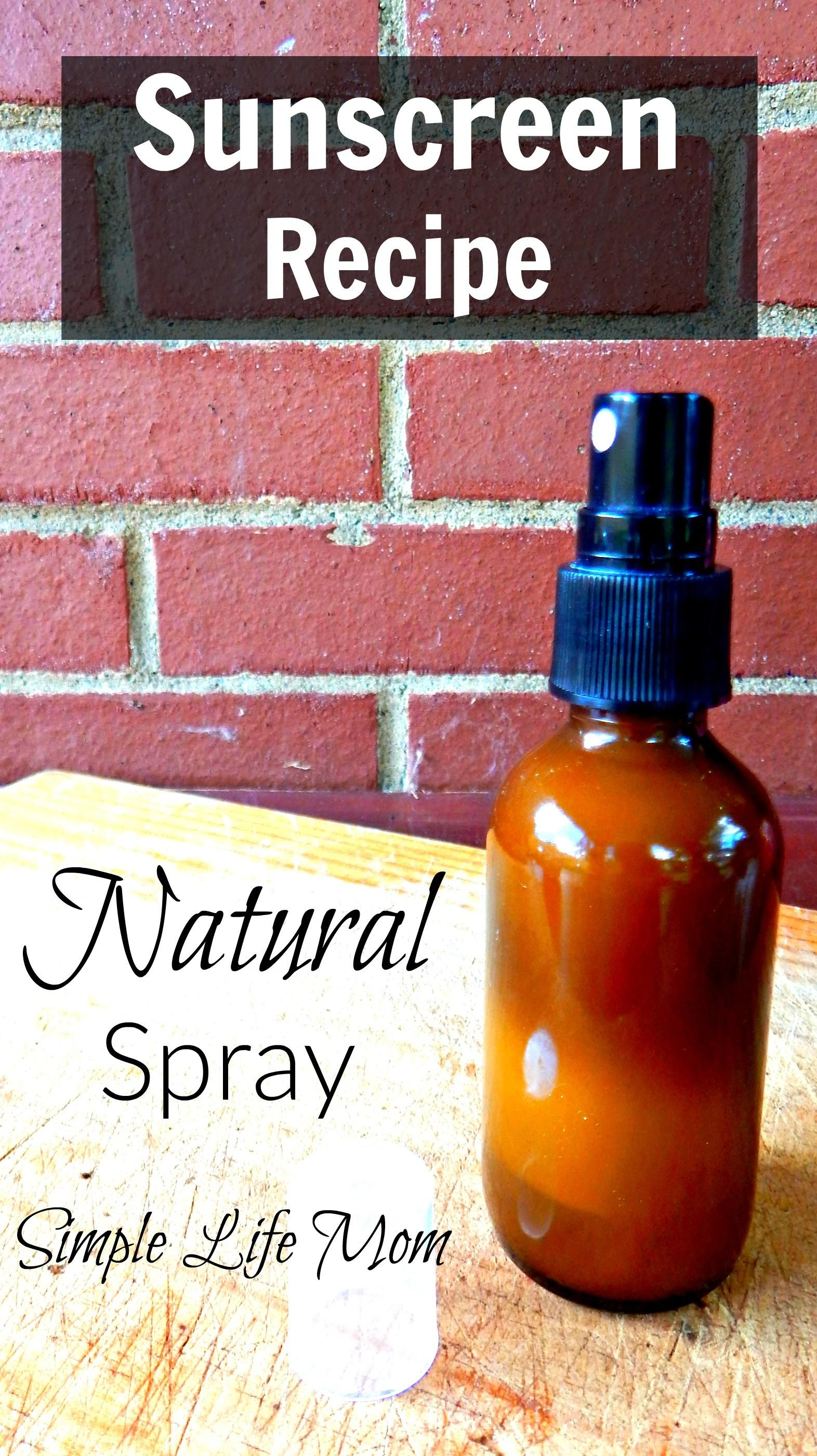 Homemade Spray Sunscreen Recipe Natural Ingredients