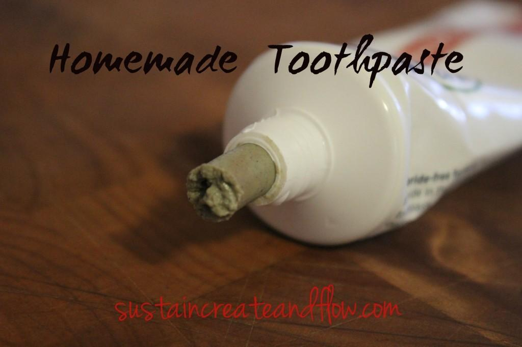 Homemade Toothpaste Tube