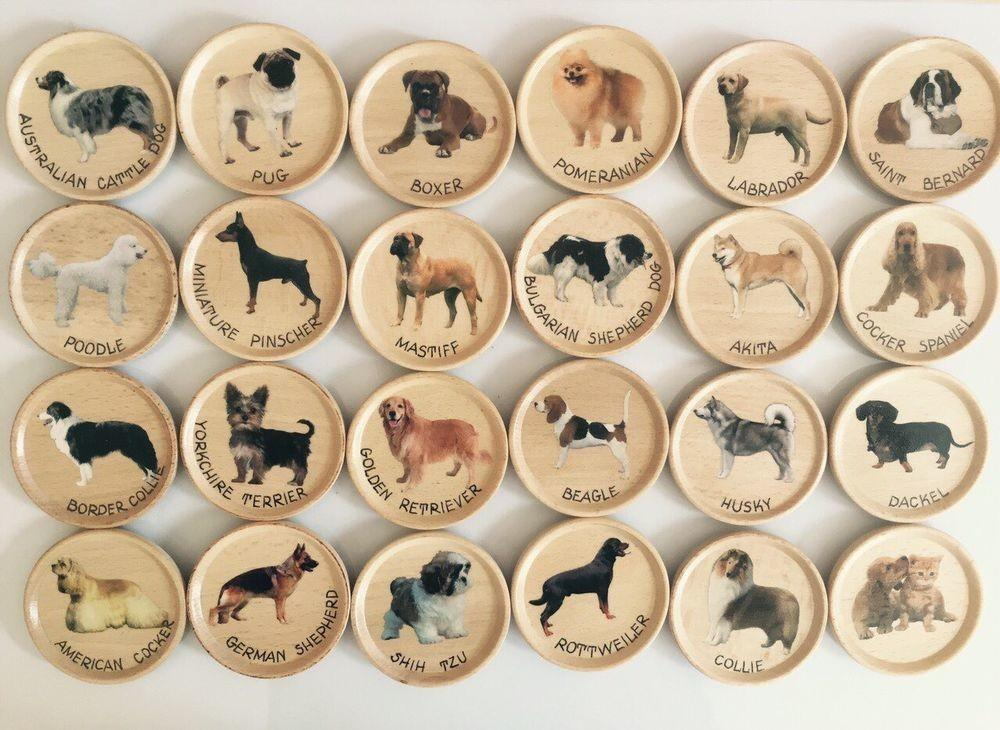 Homemade Unique Pets Lovers Wooden Fridge Magnets