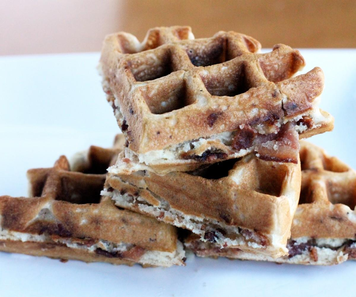Homemade Waffle Recipe Prissy Blueberries Delicious