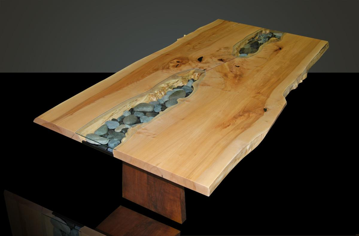 Homeofficedecoration Live Edge Wood Slab Dining Table