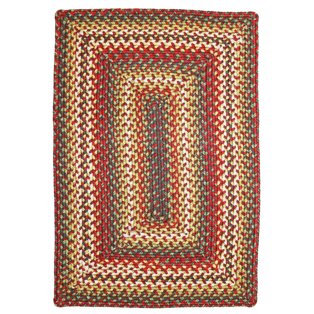 Homespice Decor Sunrose Red Indoor Outdoor Rug