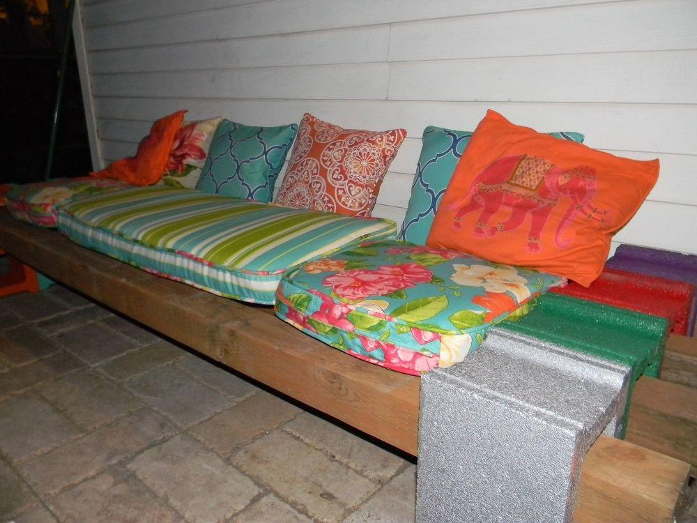 Hometalk Cinder Block Bench