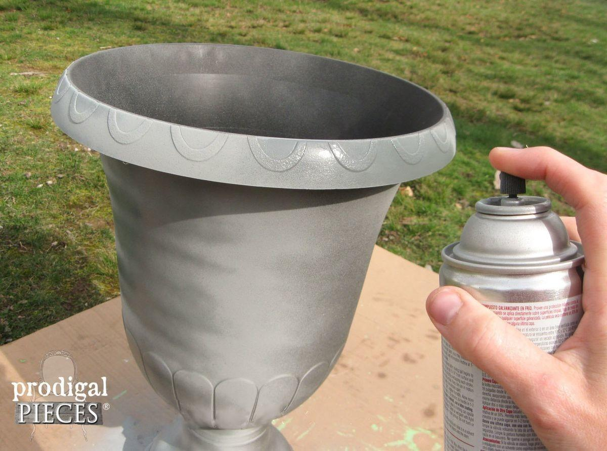 Hometalk Create Faux Zinc Finish Paint