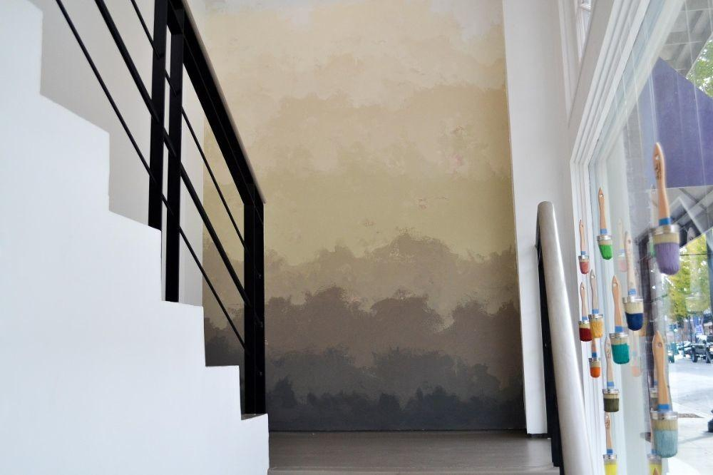 Hometalk Creating Ombre Feature Wall Finish