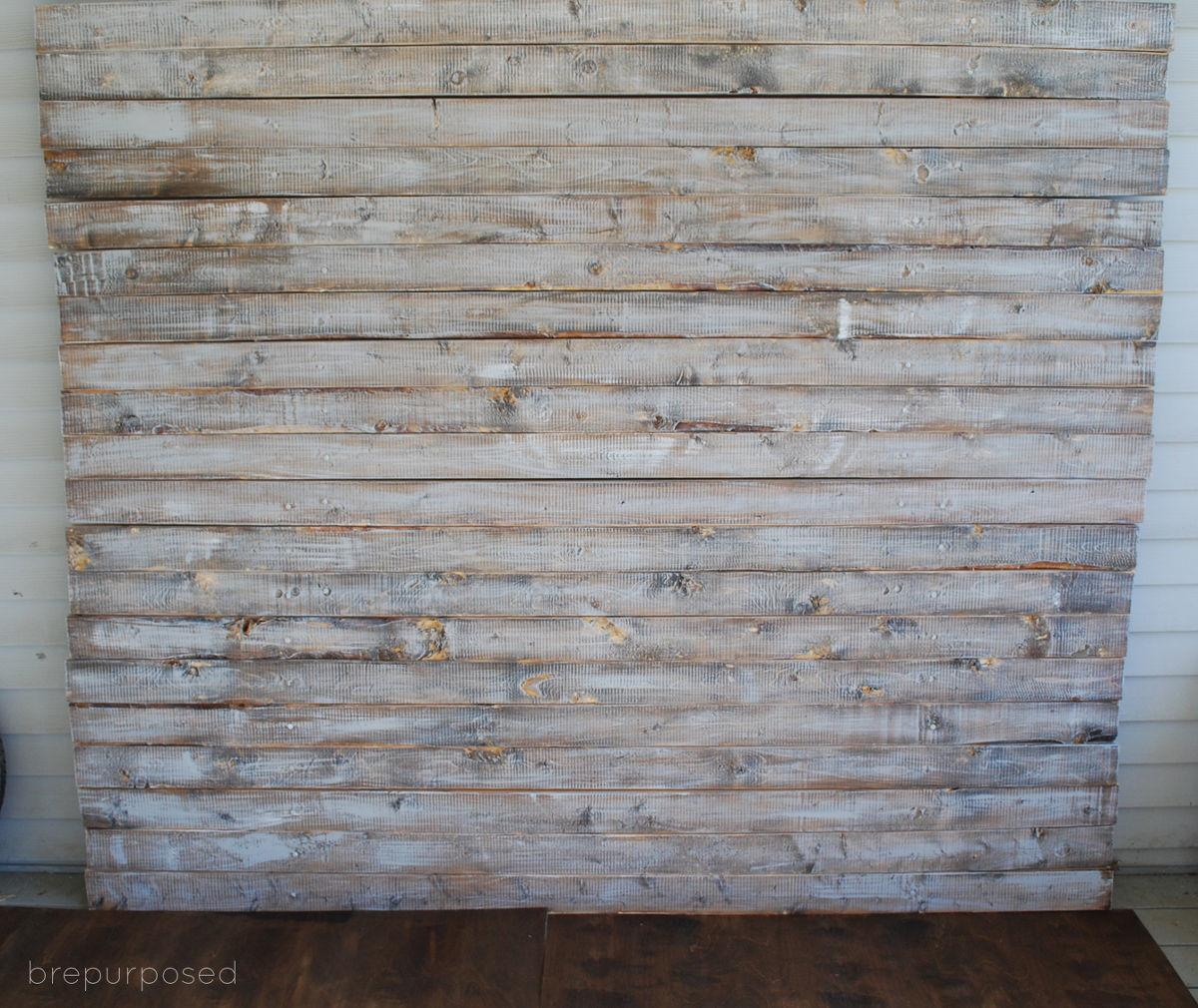 Hometalk Diy Faux Distressed Wood Backdrop