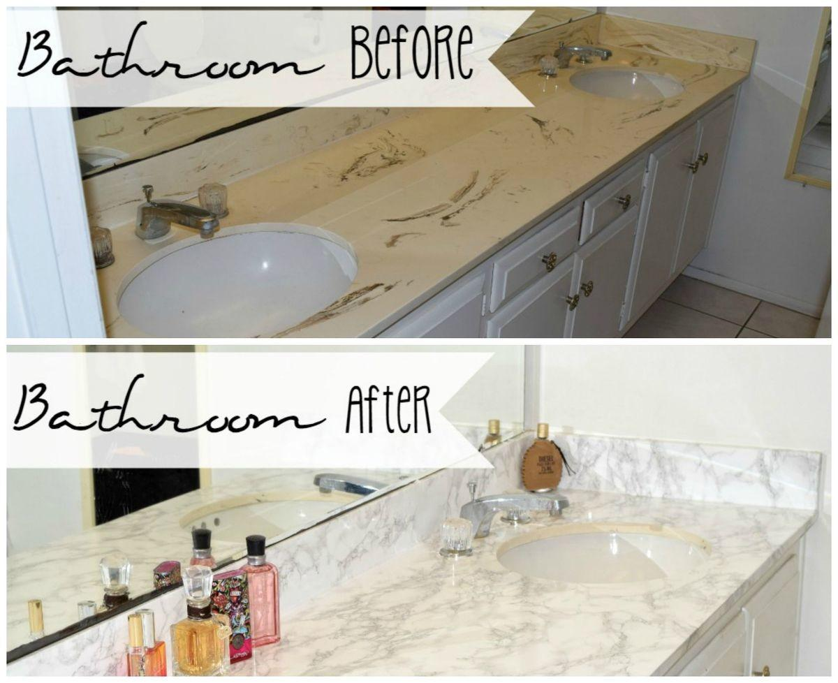 Hometalk Master Bathroom Faux Marble Makeover Home