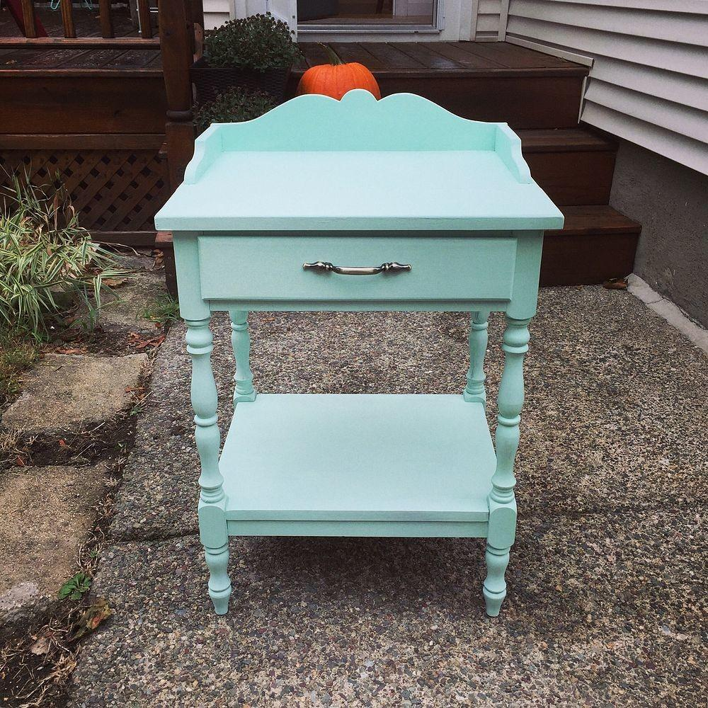 Hometalk Mint Painted End Table Makeover