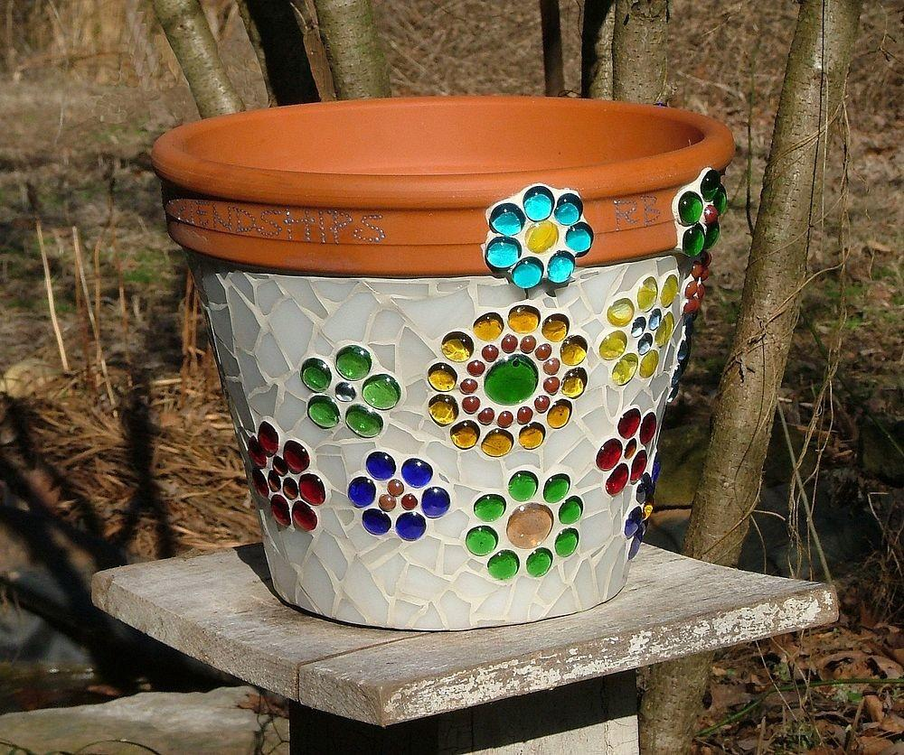 Hometalk Mosaic Flower Pot Made Stained Glass