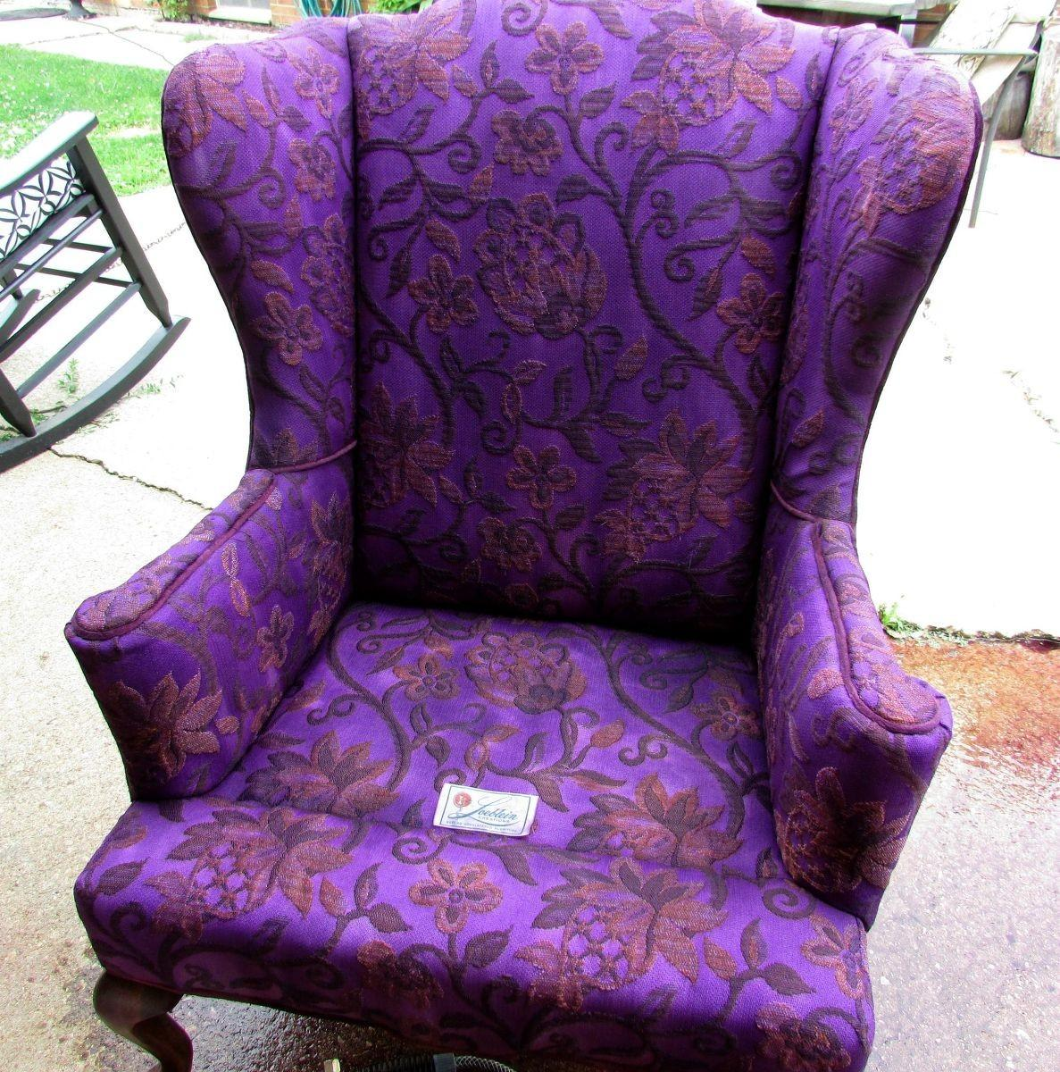Hometalk Painting Vintage Wingback Chairs Under