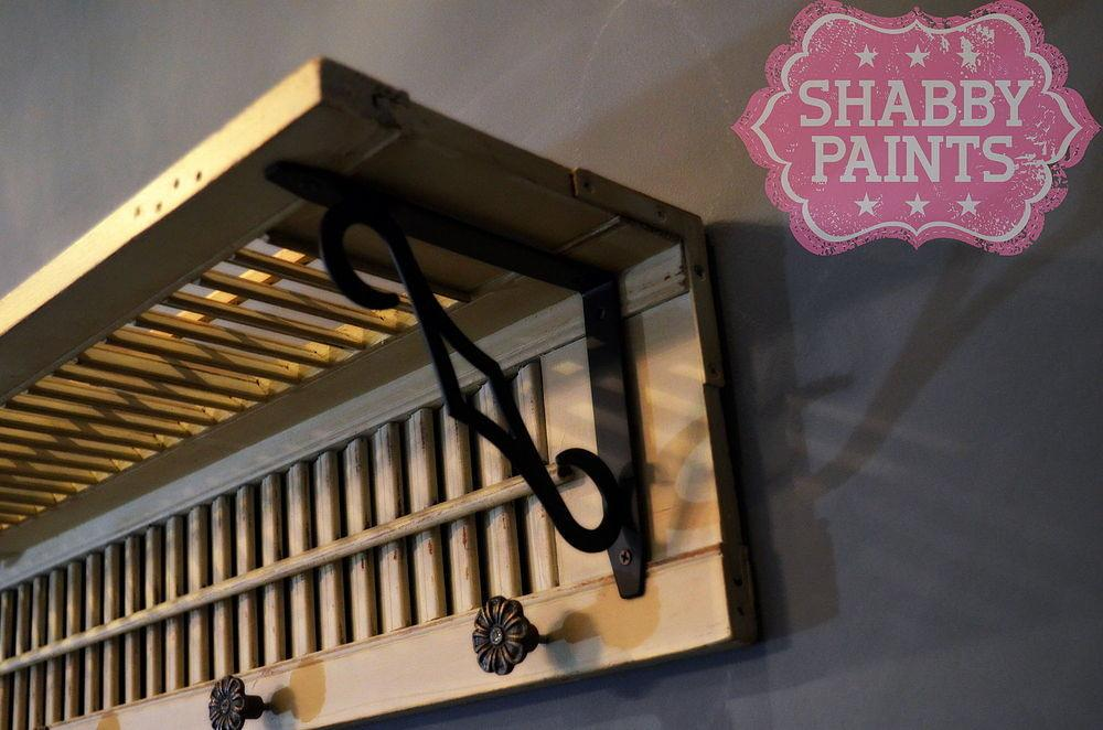 Hometalk Repurposed Shutters Coat Rack