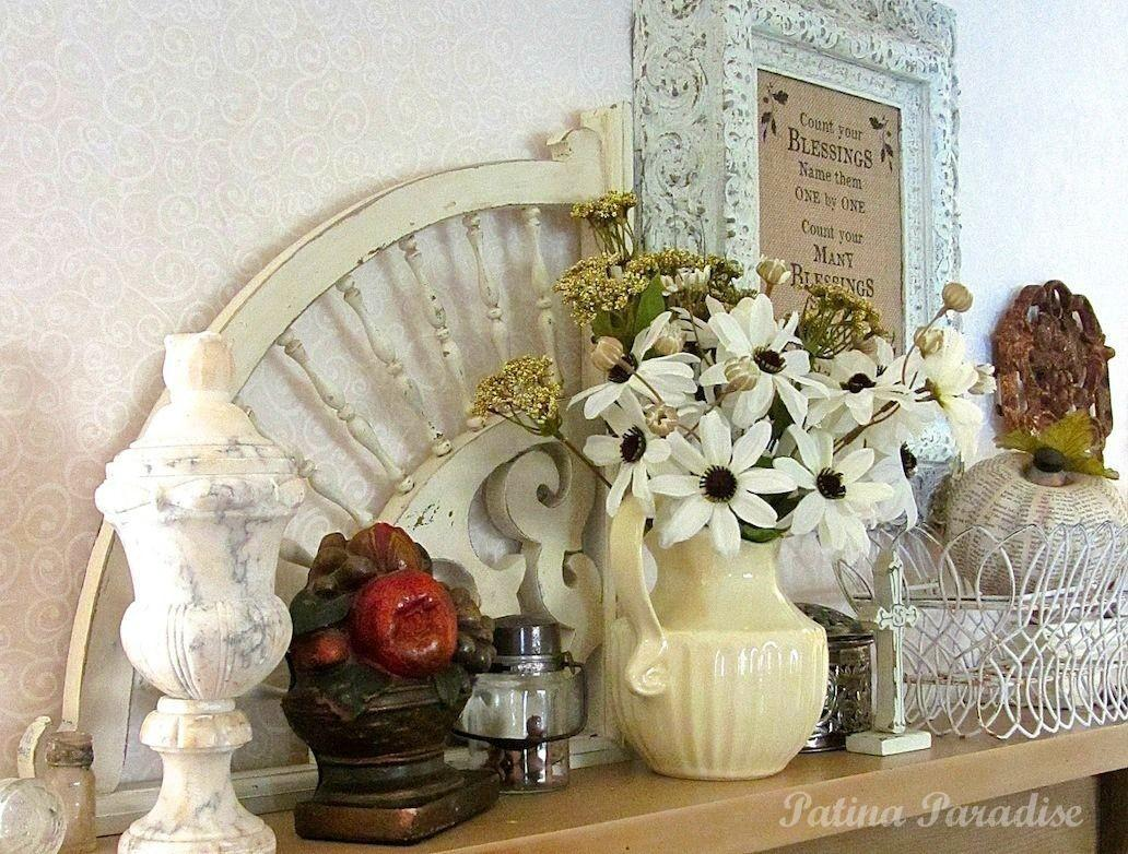 Hometalk Thanksgiving Mantel Decorating Using Flea