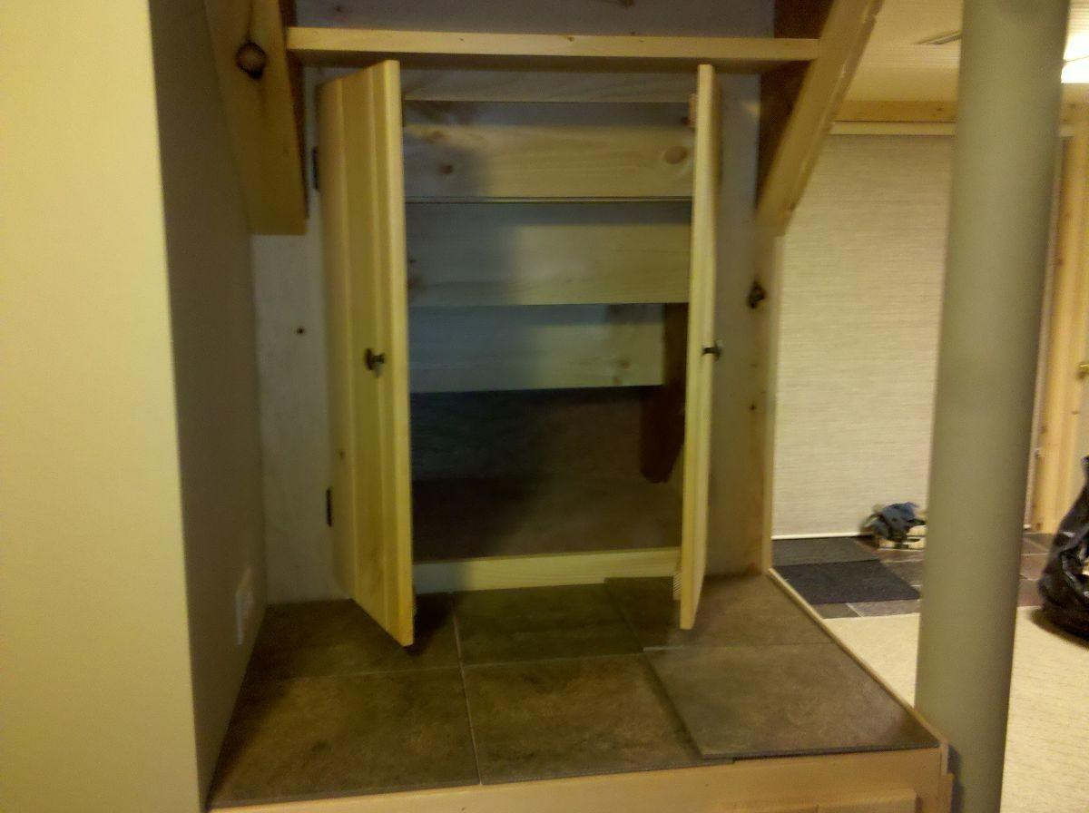 Hometalk Useful Space Created Under Basement Stairs