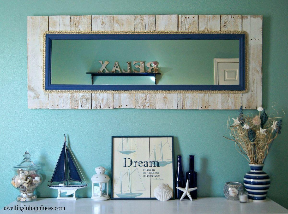 Hometalk Whitewashed Coastal Pallet Mirror