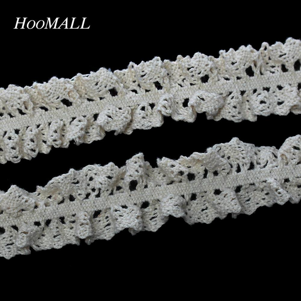 Hoomall Brand 5yards Hollow Flower Lace Trim Handmade Diy