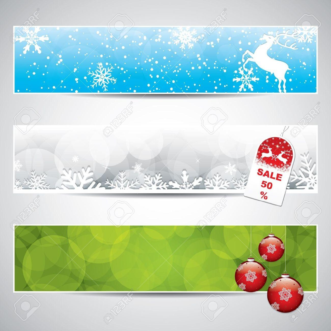 Horizontal Christmas Banner Festival Collections