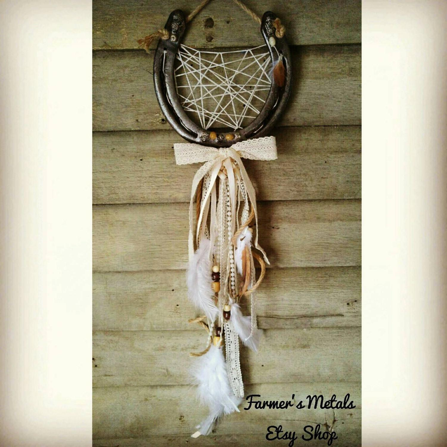Horse Decor Wall Horseshoe Dreamcatcher