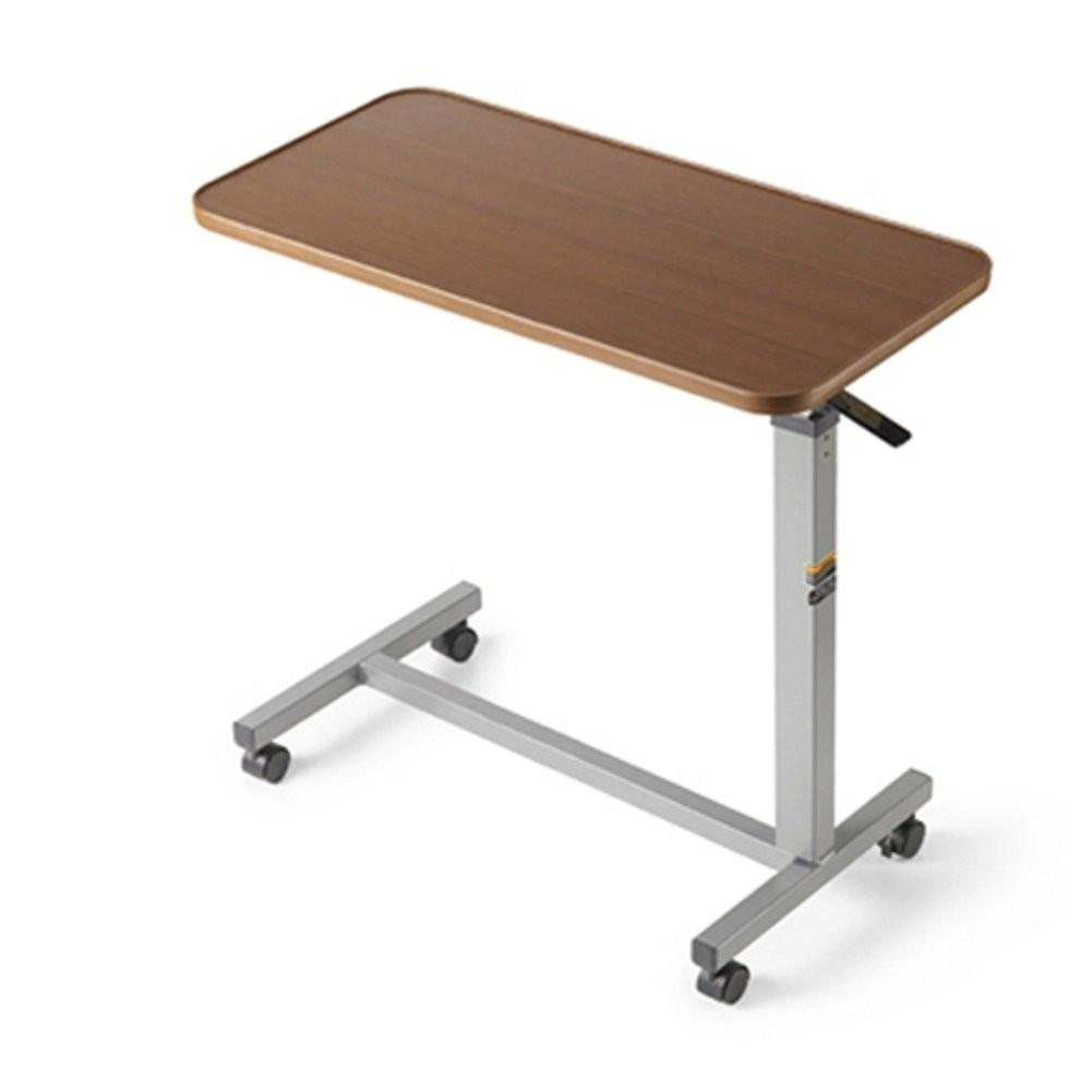 Hospital Bed Tray Table Rectangle Wooden Top