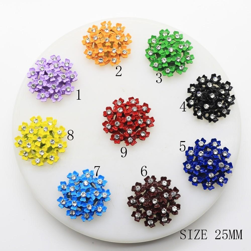 Hot 10pcs Lot 25mm Bright Mix Color Round Diy Wedding