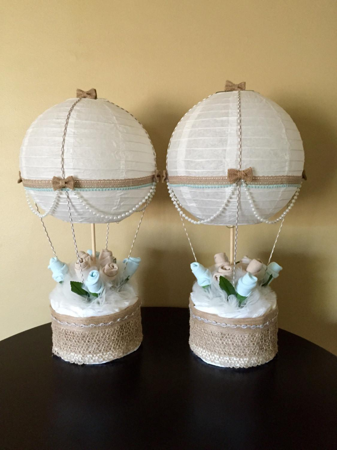Hot Air Balloon Baby Shower Table Centerpiece
