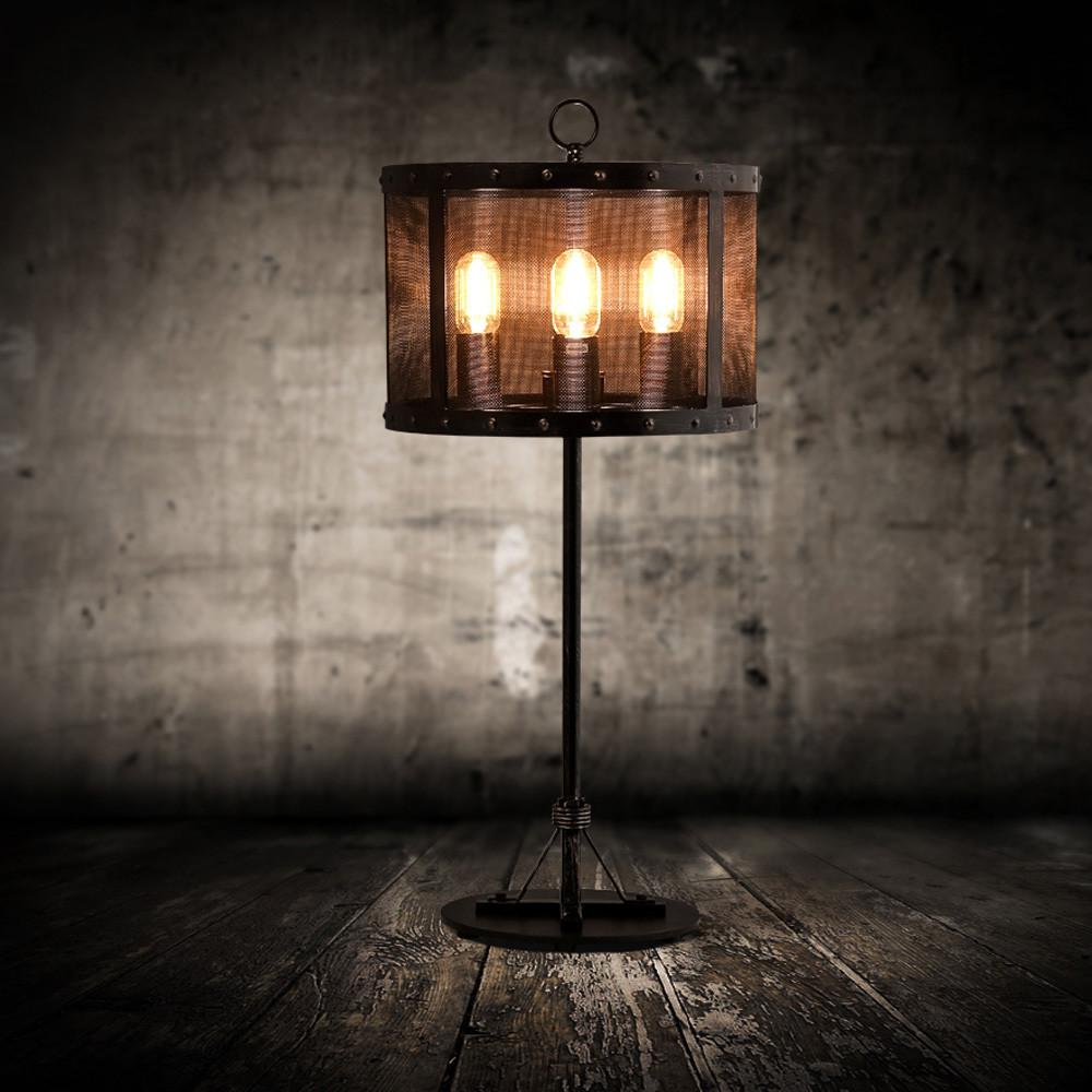 Hot America Industrial Style Table Lamp Wrought Iron