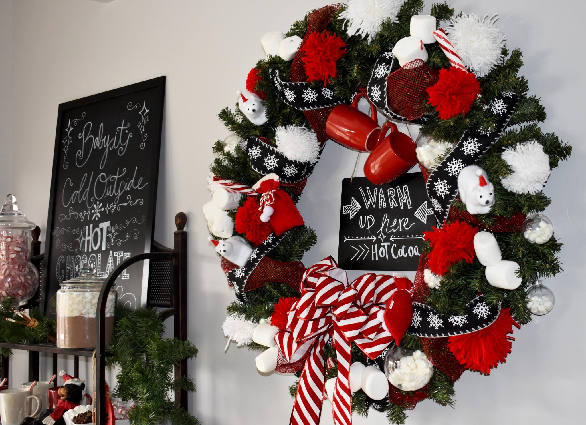 Hot Chocolate Wreath Ashley Dream Decor