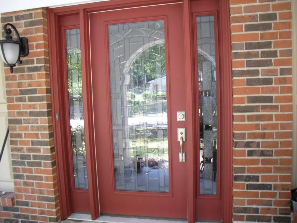 Hot Front Porch Design Decoration Using Red