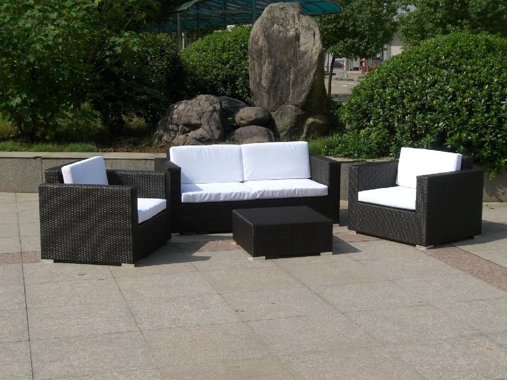 Hot Selling Small Group Wicker Sofa Furniture E005
