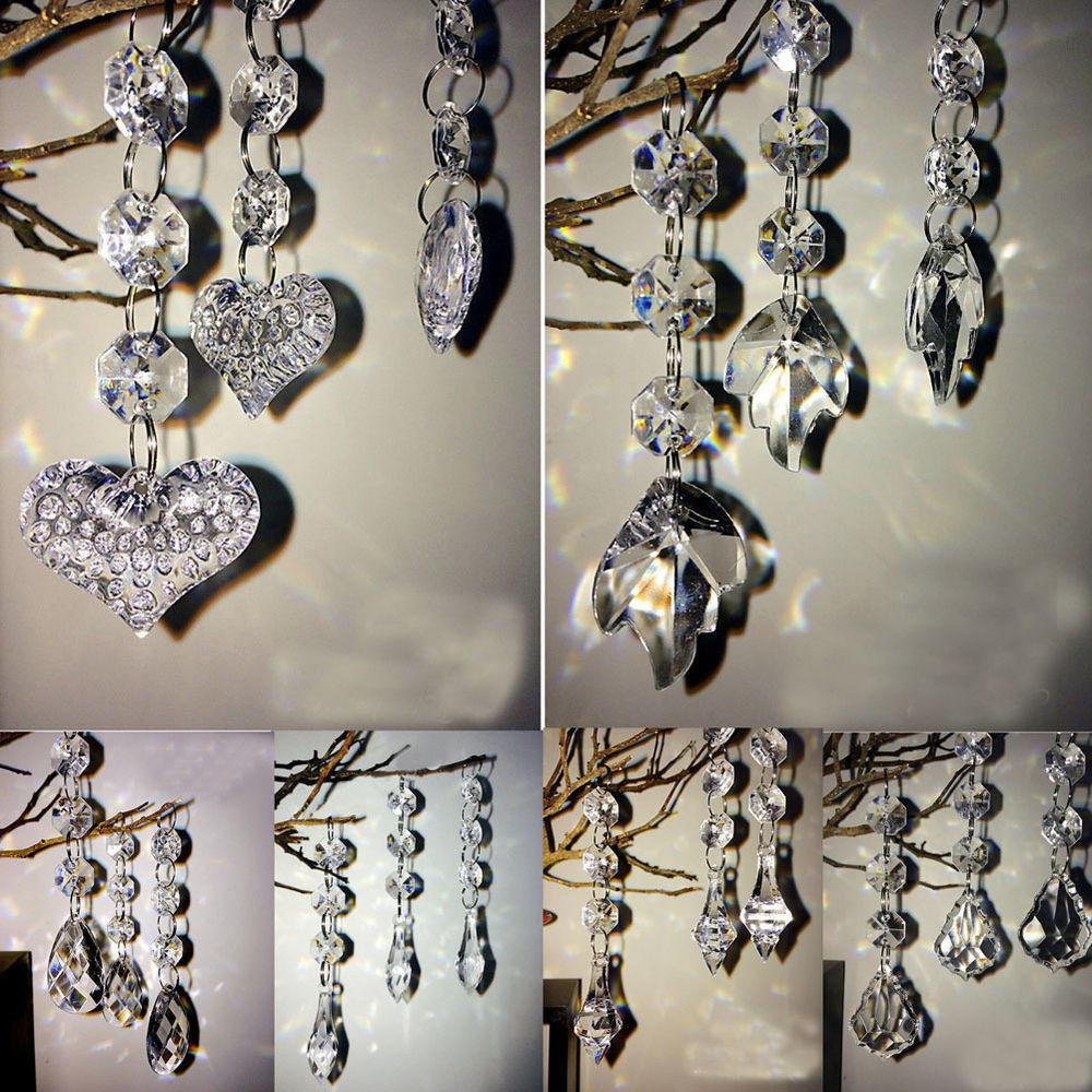 Hot Style Diy Acrylic Crystal Beads Garland Chandelier