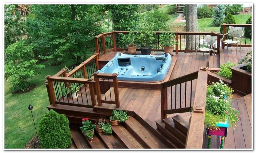 Hot Tub Deck Design Ideas Decks Home Decorating