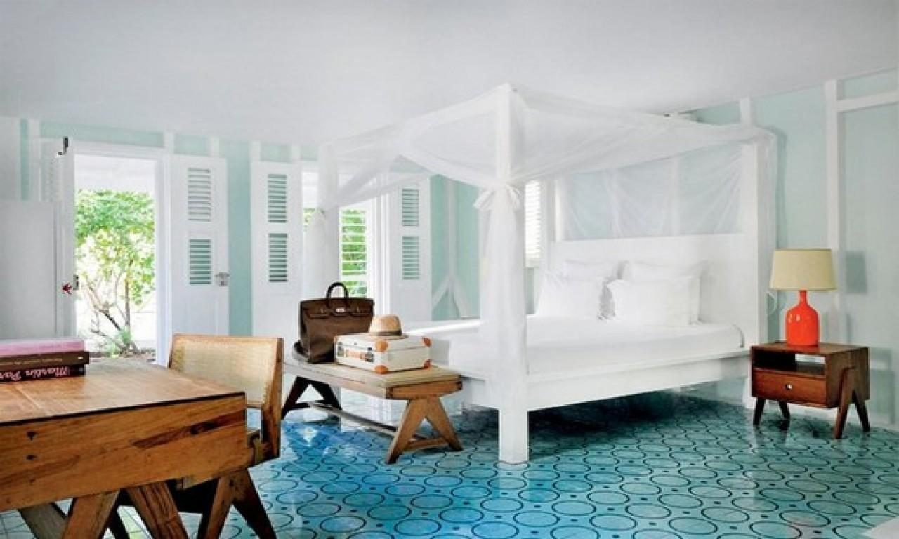 Hotel Chic Bedroom Caribbean Style Design