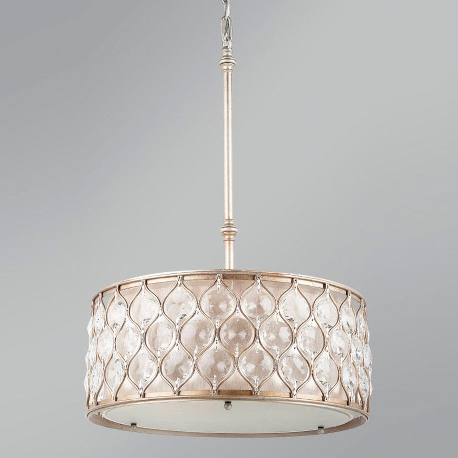 Hourglass Crystal Drum Pendant Shades Light