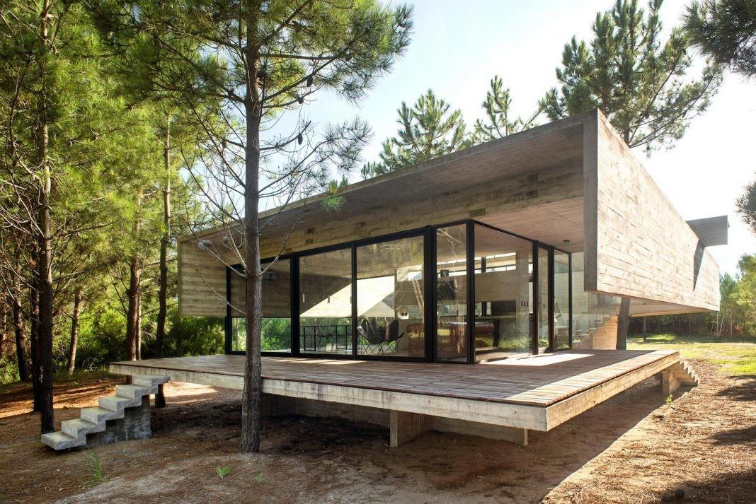 House Built Entirely Out Exposed Concrete