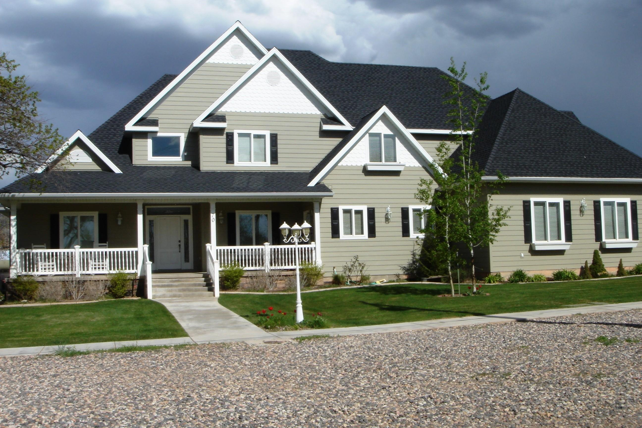 House Color Schemes Exterior Grey Roof Khabars