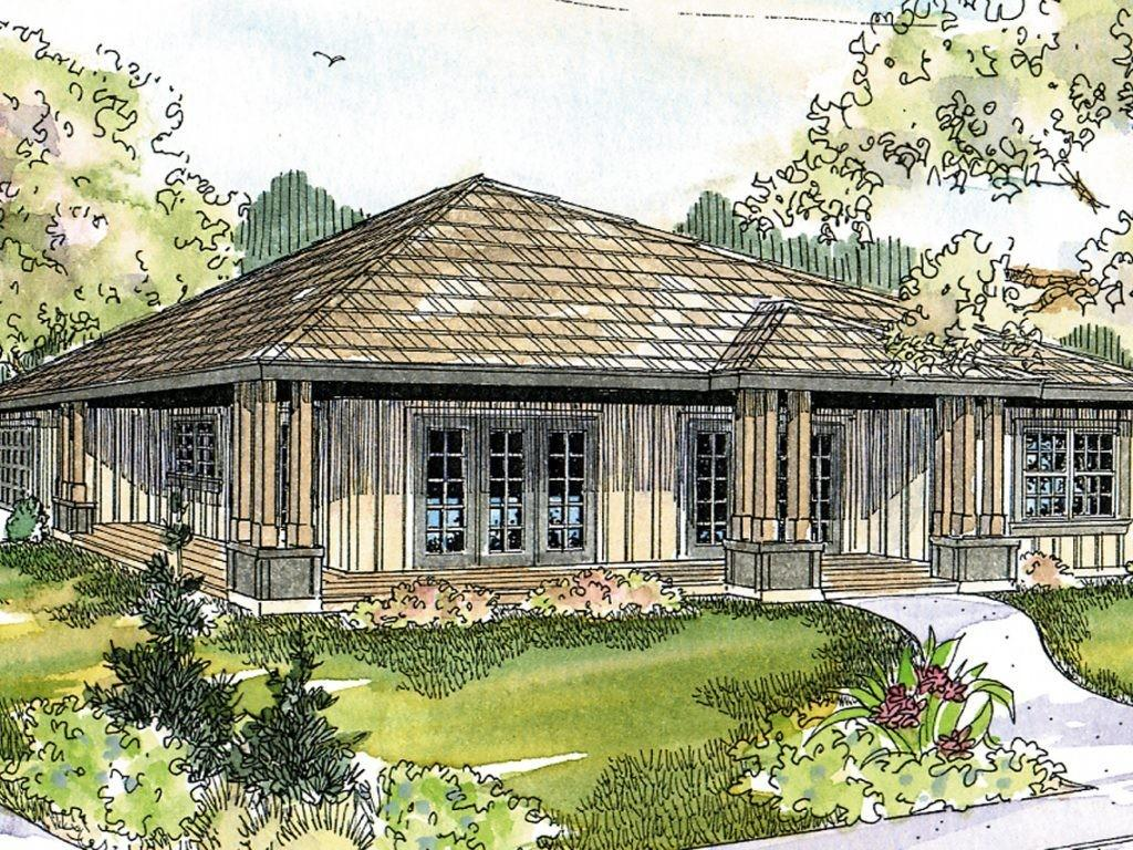 House Plans Hip Roof Ranch Home Deco Modern Bungalows
