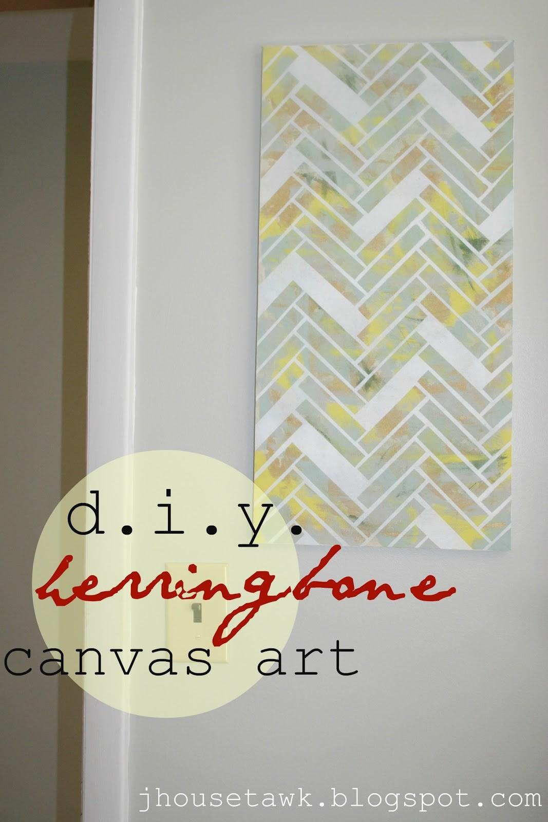 House Tawk Diy Herringbone Canvas Art