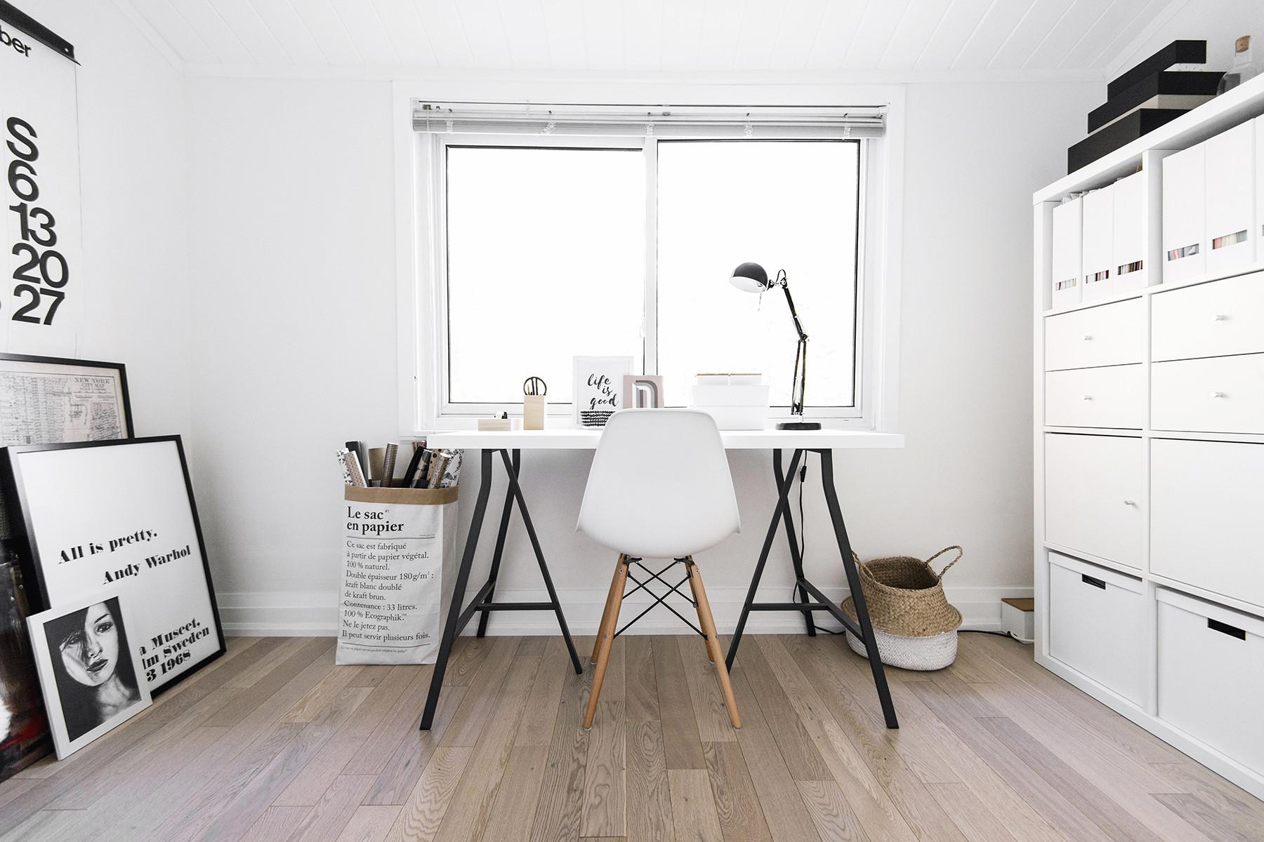 House Tour Small Scandinavian Inspired Office Happy